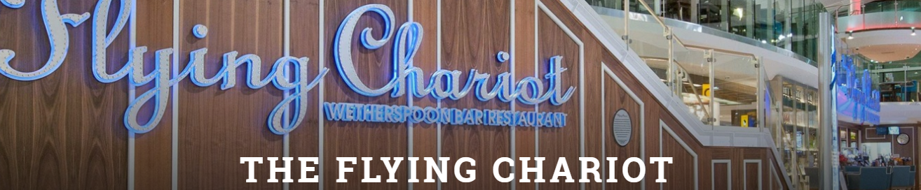 Image of the Flying Chariot pub inside Heathrow Airport
